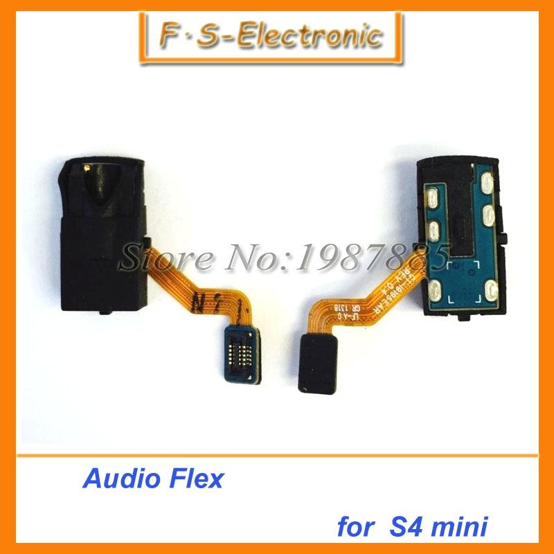 10 шт./лот Оригинальный шлейф и аудио ухо разъем для наушников исправление для Samsung Galaxy S4 Mini i9190 i9195 i9152 Бесплатная доставка