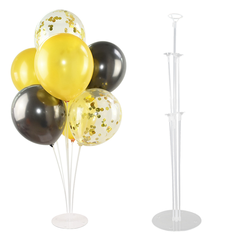 7 Tubes Balloons Stand Balloon Holder Column Plastic -8813