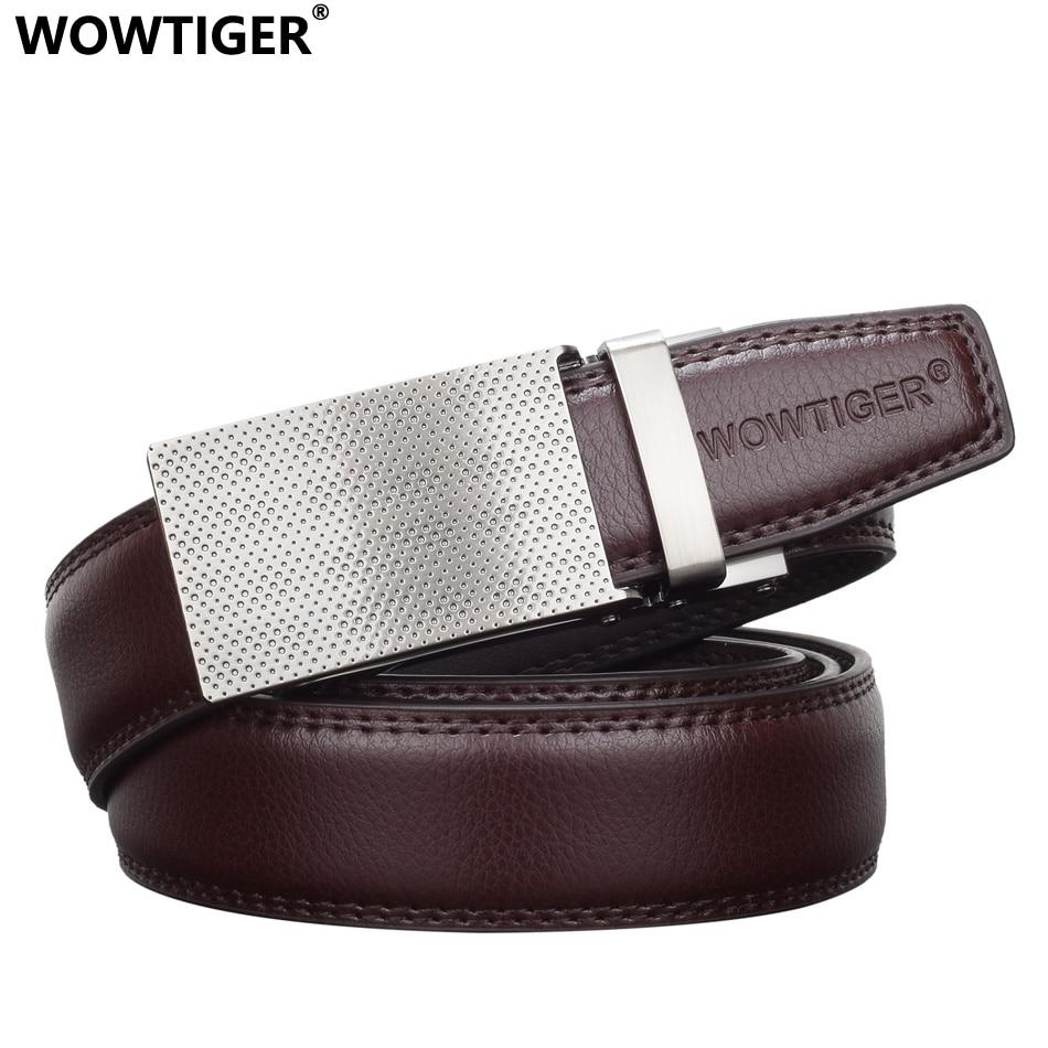 00c979b4ed70 WOWTIGER Fashion Designer Marque De Luxe En Cuir Mâle Hommes Automatique Boucle  ceinture Sangle De ceinture Ceintures pour Hommes ceinture homme dans ...