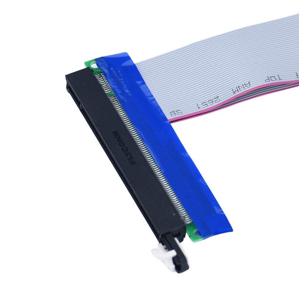 Factory Price PCI-E Express Extension Cable Flex Ribbon 4X To 16X Extender Riser Card Drop Shipping michael siebenbrodt bauhaus