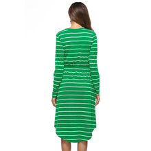 Women Dress 2018 New summer Spring Long Sleeve dresses casual women Clothing Casual Striped dresses Plus Size