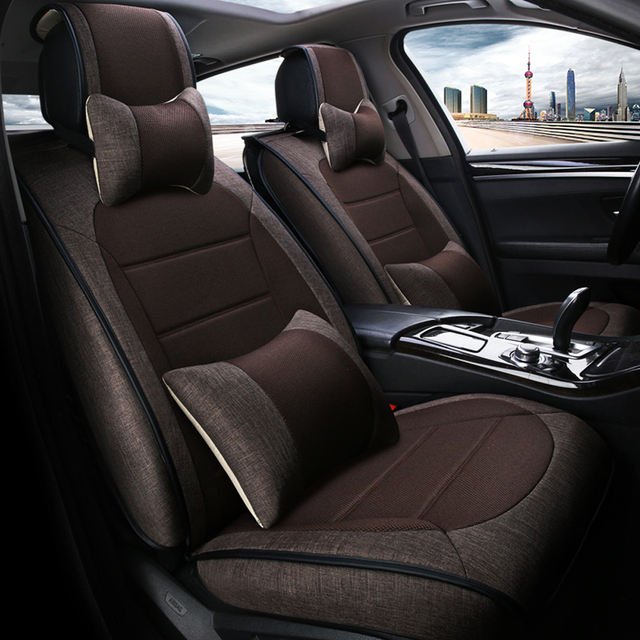 Auto Styling Vlas Stof Auto Bekleding Universele Luxe Comfortabele ...