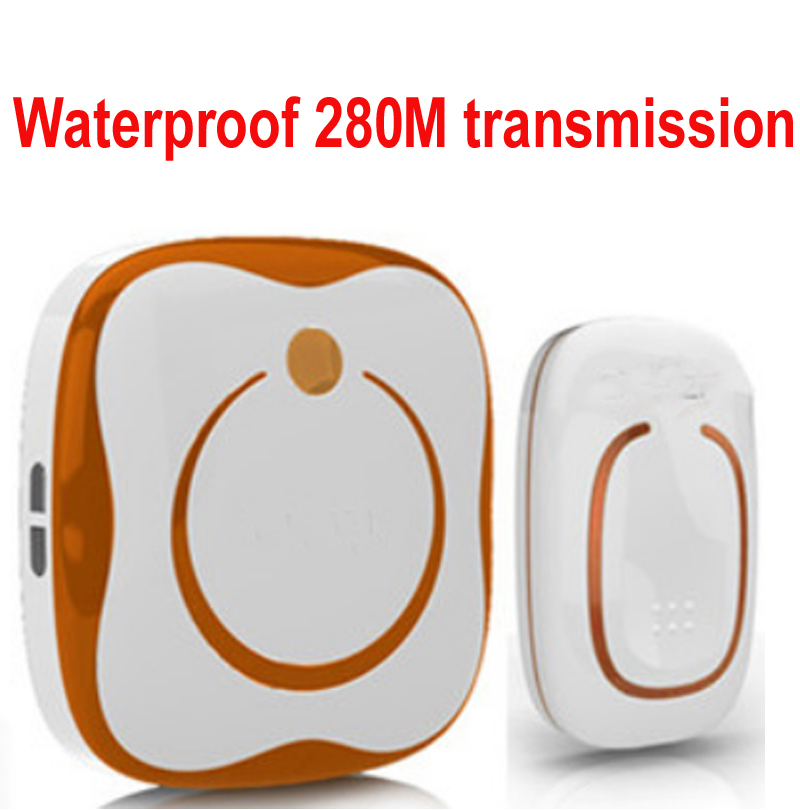8pcs/lor ringI Waterproof 280M Long-range wireless doorbell,wireless door chime,wireless bell,door bell,48 melodies & 16 chord ks v2 welcom chime bell sensor