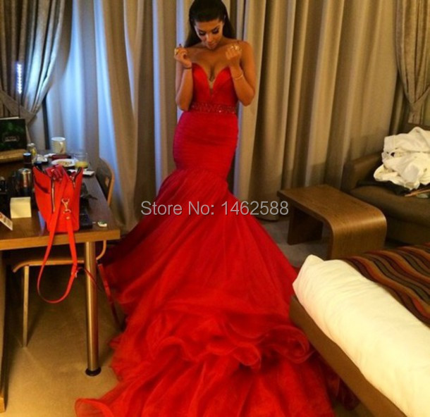 2015 Sexy Red Prom Dresses