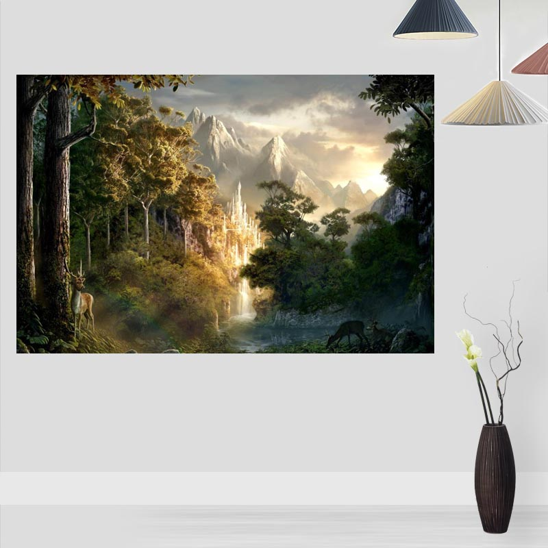 Custom  The Lord Of The Rings Posters And Prints Wall Pictures For Living Room Modern Art Poster Home Wall Decor 20x30cm,27x40cm