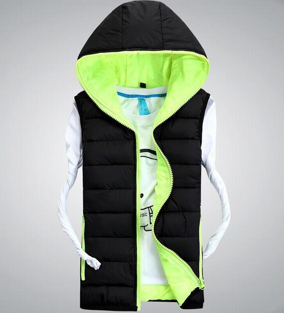 Wholesale hooded  men winter leisure vest custom down cotton vest men's jacket Outerwear & Coats