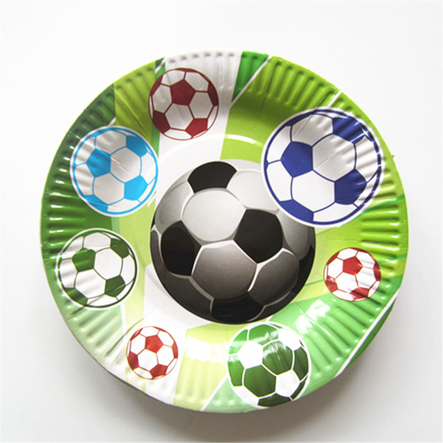 10PCS football cartoon children paper plates birthday party decoration banner bunting for kids boys girls party  sc 1 st  AliExpress.com & 10PCS football cartoon children paper plates birthday party ...