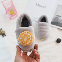 купить Male Female Baby Slippers Kids Home Slippers Girls Cotton Cartoon Fruit Winter Boys Slipper Indoor House Bedroom Baby Soft Flats в интернет-магазине