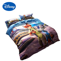 Disney Zootopia bed sheet set cartoon Judy Nick Print Beddings cotton sanding boy quilt cover single twin full queen bedspreads