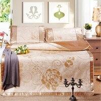 3 peças/set Tapete tapete de seda três-pedaço de gelo dobrável fresco no verão com ar-condicionado assentos