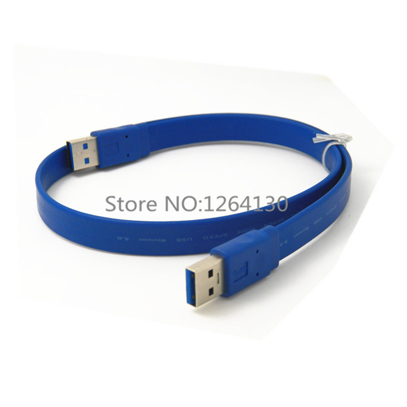 0.3M 0.6M 1M 1.5M USB 3.0 Type A Male to Type A Male Cable / USB 3.0 AM to AM Extension Flat Cable Russia