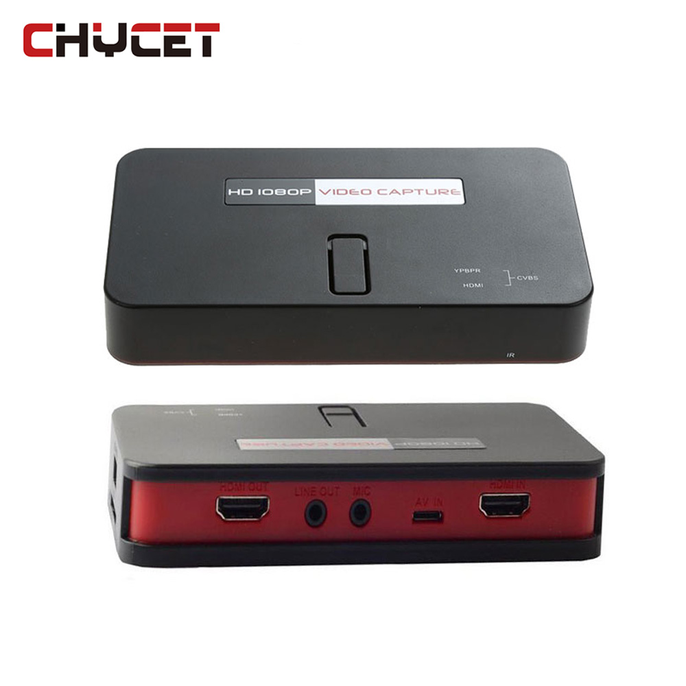 все цены на Chycet EZcap284 HD Game Capture 1080P HDMI/AV/Ypbpr Video Capture Recorder Box into USB Disk SD Card MIC For Xbox360/One PS3/4