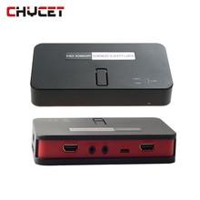 Chycet EZcap284 HD Oyun Yakalama 1080 P HDMI/AV/Ypbpr Video Kaydedici Box Capture USB Disk içine SD kart Xbox360 Için MIC/Tek PS3/4