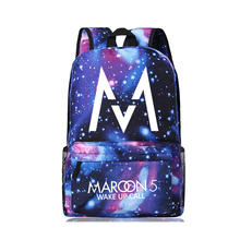 Maroon 5 Backpack Men Payphone Song Maroon5 School Bags for Teenagers