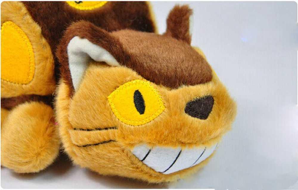 30 Cm Lucu Kartun Animasi Bus Totoro Boneka Lembut Hewan Mewah Mainan Boneka Totoro Kawaii Hadiah Mainan untuk Anak-anak