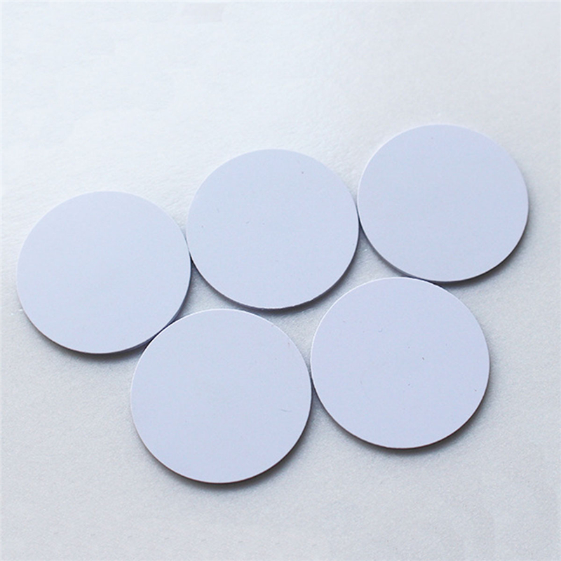 (5 Pcs/lot) EM4100 RFID Tags 125khz Stickers Coins 25mm Waterproof Adhesive Smart Tags Read-only Access Control Cards Hot Sale