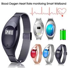 1pc Women ladies Smart Bracelet watch Heart Rate monitoring Pedometer Sport Smart Wristband for Android IOS mother's gift H3