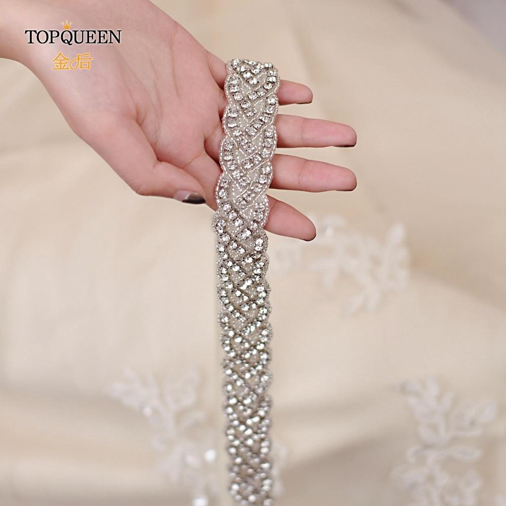 TOPQUEEN S216 Wedding Bridal Belt Bridal Sash Diamond Sash Women Belt Wedding Accessories Popular Belt Luxury Bridesmaid Belts
