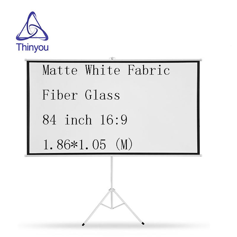 Thinyou Matte White Fabric Fiber Bracket Screen 84 Inch 16 9 Portable font b projector b