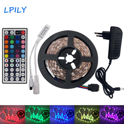 10M 5M RGB Led Strip Light 5050 Waterproof LED Tape 60D/M DC12V LEDStrip Ribbon Set with Remote Controller Adapter RGB  for Home