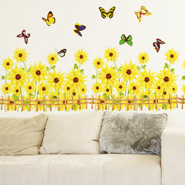 kindergarten classroom corridor wall decoration stickers Gerbera ...