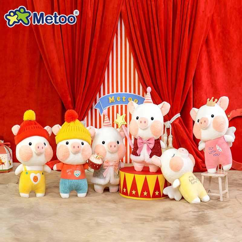 24 см кукла Metoo набивные плюшевые игрушки животные мягкие детские игрушки для девочек Дети мальчики подарок на день рождения Kawaii мультфильм свинья