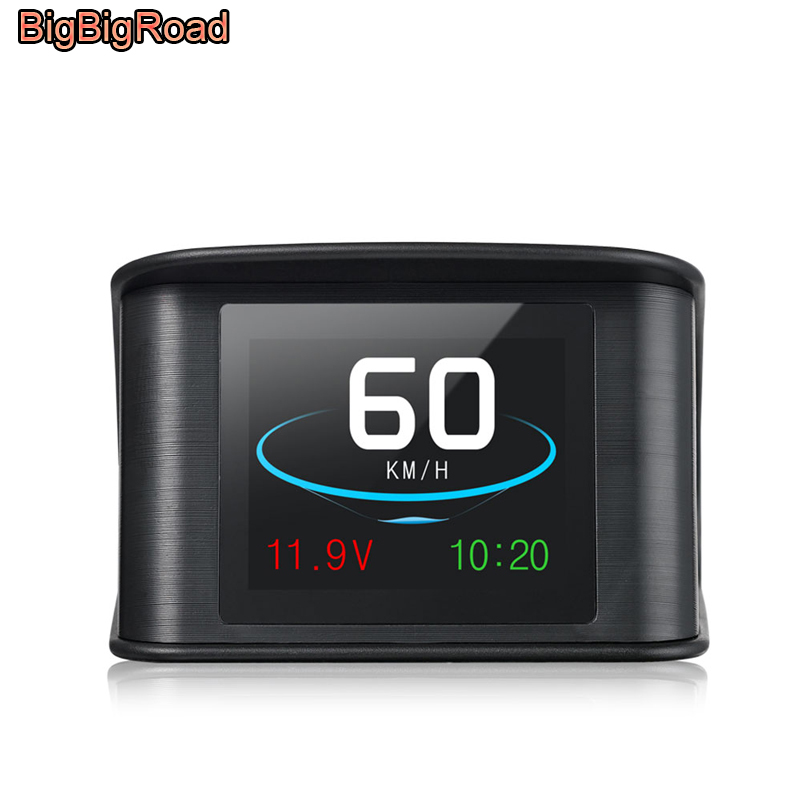 BigBigRoad For Mercedes Benz SLK SLC R A Class R172 W203 W204 W205 W251 W176 Car Hud OBDII Windscreen Projector Head Up Display bigbigroad car hud head up display windscreen projector for mercedes benz a ml gle gls class w163 w164 w166 x164 x166 w176 w117