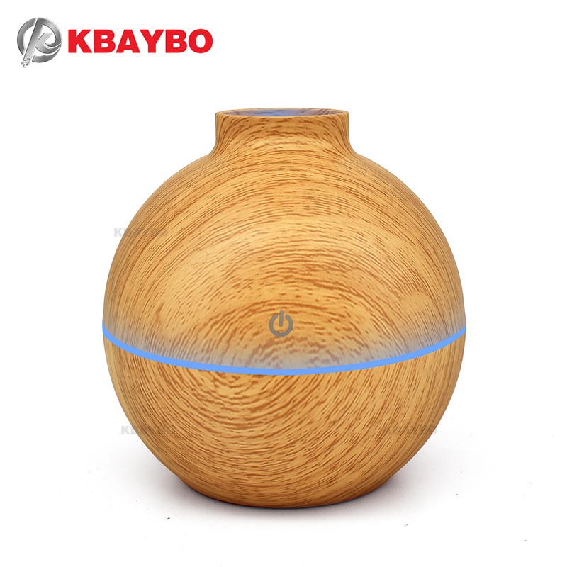 USB Aroma Essential Oil Diffuser Ultrasonic Cool Mist Humidifier Air Purifier 7 Color Change LED  light for Office Home 130ml eworld essential oil diffuser 130ml led ultrasonic cool mist aroma air humidifier usb air purifier for office home bedroom