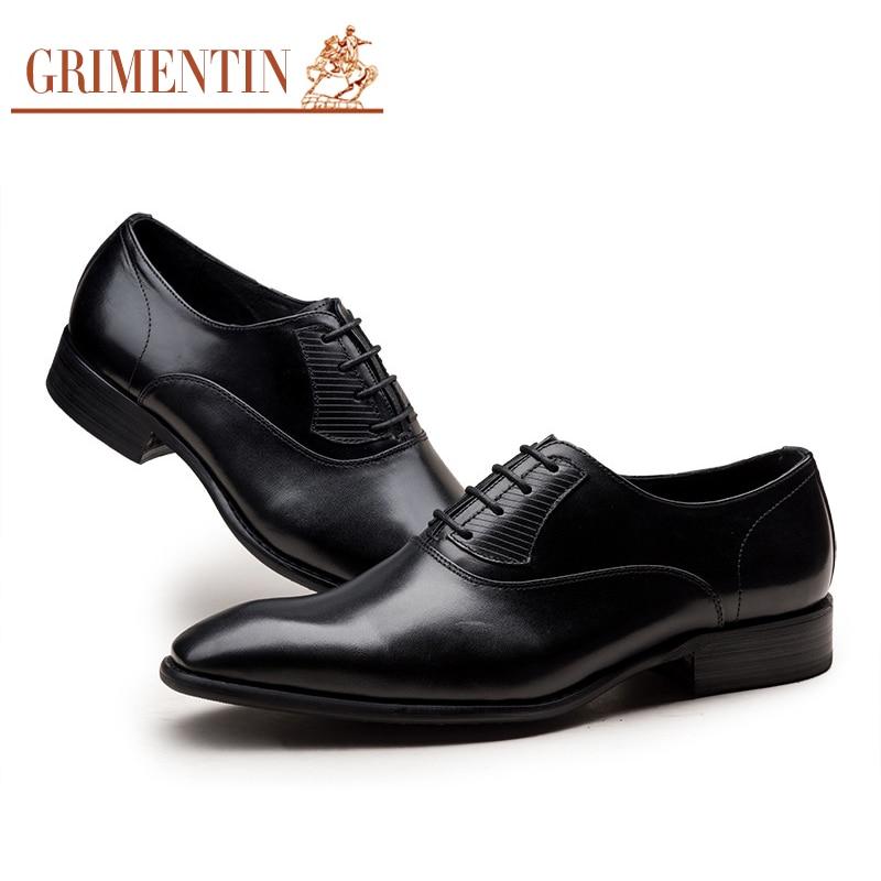 Genuíno Sapatos Italy Dos Qualidade Designer Grimentin Masculinos Couro brown Vestem Se De Alta Black Homens Casamento vH8qqd