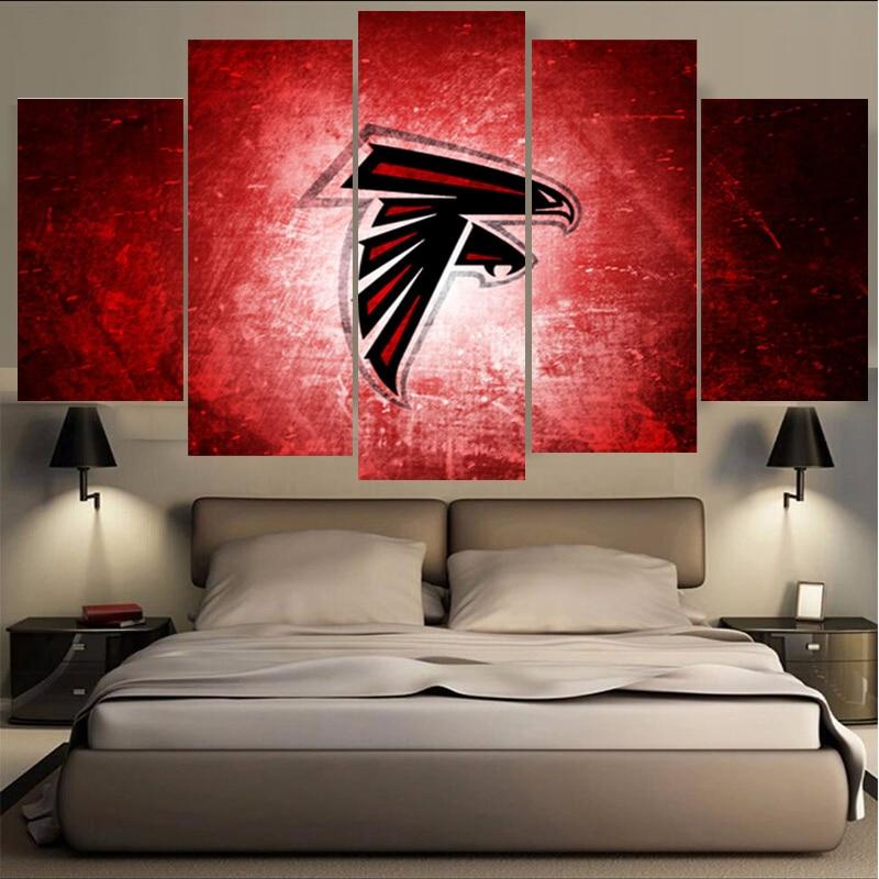 Sport Atlanta Falcons Canvas Painting Calligraph Wall Art