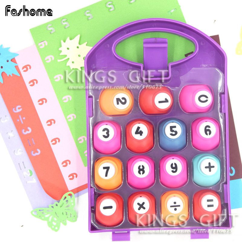 Arabic Numeral & Symbols Paper Punch For DIY Scrapbook, Creative Craft Punch Set DIY Tools, Hobbies Tools Kids Intelligence Toys