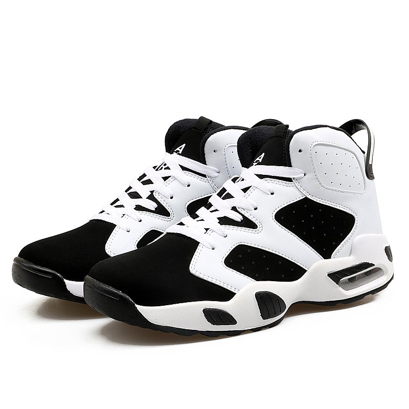 Original Retro Basketball Shoes for Men Air Shock Outdoor Trainers Light Runing Sneakers Young Teenagers High Boots Basket Plush in Basketball Shoes from Sports Entertainment