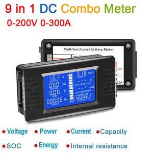 Image 2 - 9in1 DC קומבו מד סוללה צג מתח הנוכחי כוח קיבולת פנימי התנגדות/SOC/זמן/עכבה בודק וולט amp