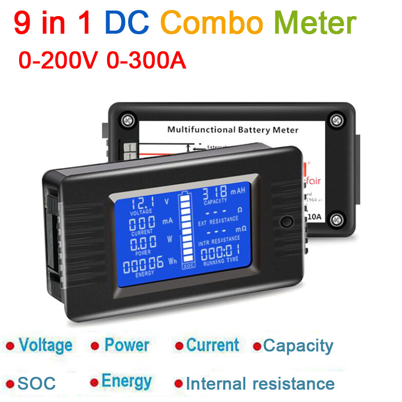 DYKB DC Combo Meter Battery Monitor Voltage Current Power Capacity Internal Resistance/SOC/time / Impedance Tester Volt Amp