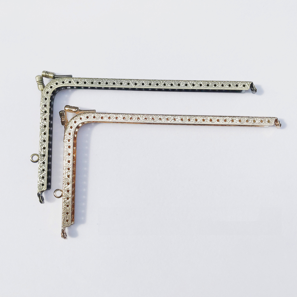 DIY Women Knurling Straight Right Angle Design Purse Frame Metal Clasp Bag Making Accessories 5pcs/lot