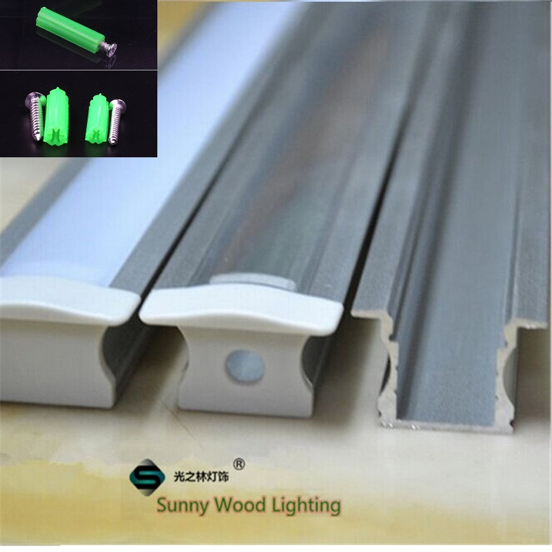 Us 59 9 10pcs Lot Embedded Led Aluminium Profile Inground Channel Built In Bar Light Housing For 12mm Pcb Board Lights
