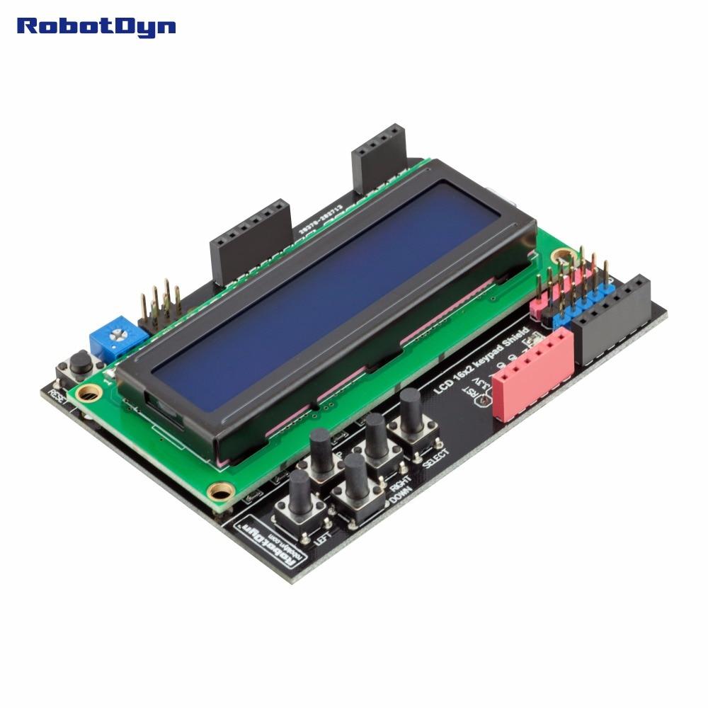 RUSSIAN (Cyrillic) LCD Keypad Shield, 1602 Display, For Arduino LCD Shield BLUE SCREEN