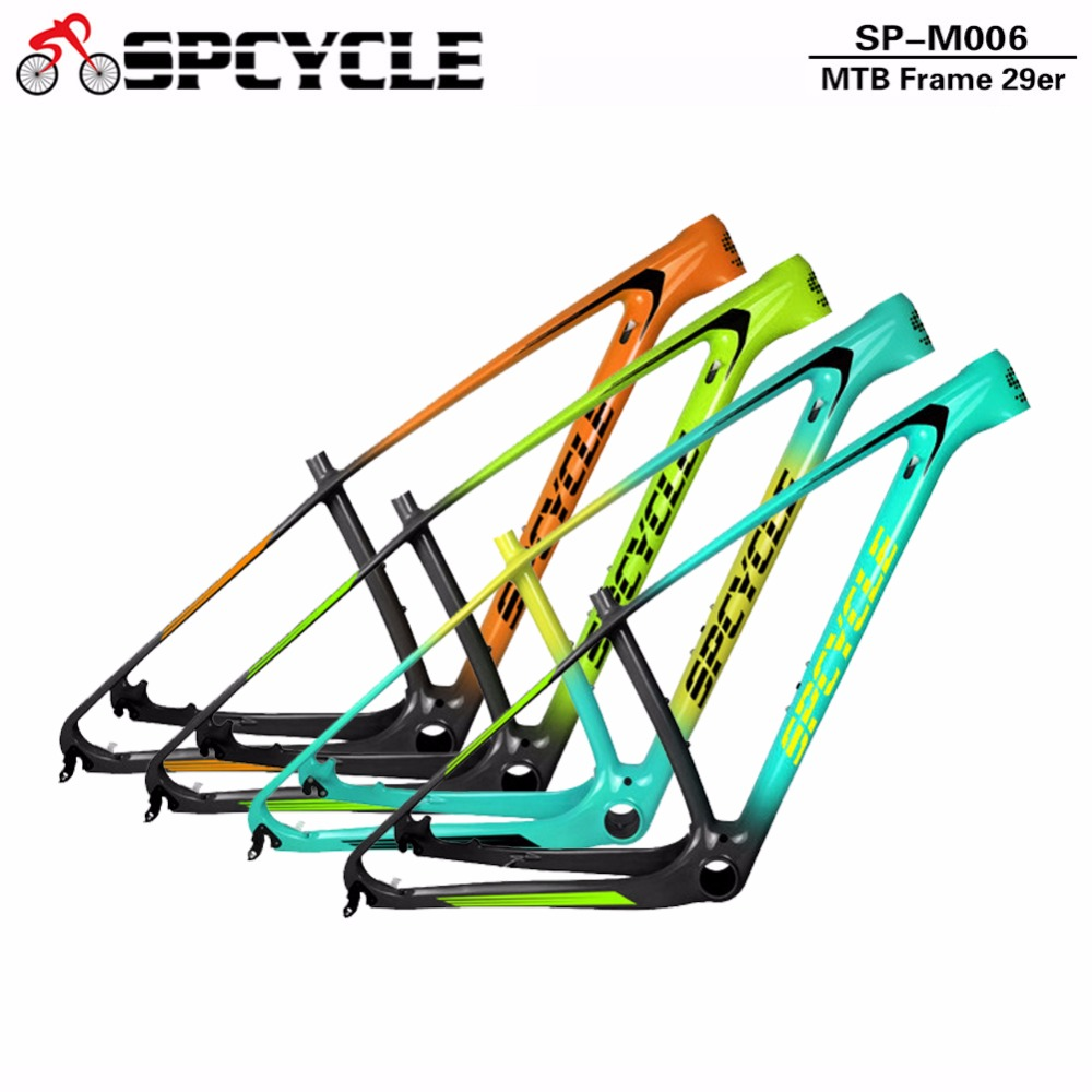 Spcycle Ultralight T1000 Carbon Mountain Bike Frames 29er Carbon MTB Bicycle Frames Compatible 142*12mm Thru Axle Or 135*9mm QR