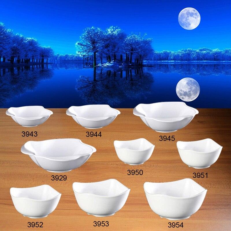 Imitation Porcelain Dinnerware Square Bowl Restaurant A5 Melamine Bowl Cafeteria Vegetable Bowl Melamine Tableware Wholesale