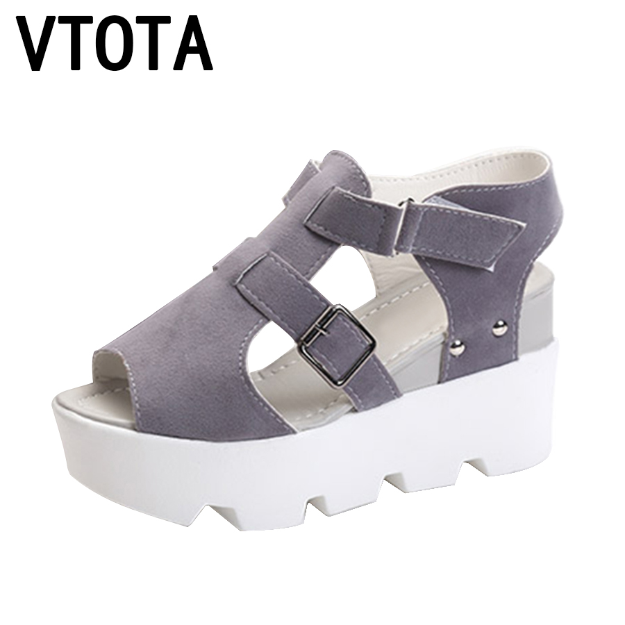 VTOTA Fashion Women Sandals 2017 Gladiator Sandals Women Casual Wedges Summer Shoes Sandals Shoes Women Sandalias Mujer X469 phyanic 2017 gladiator sandals gold silver shoes woman summer platform wedges glitters creepers casual women shoes phy3323