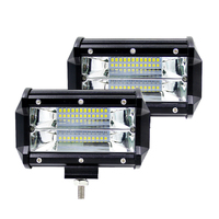 2X 5Inch 72W LED Work Light Bar Car Truck Offroad Driving Fog Lamp For SUV BOAT ATV 4X4 4WD TRAILER WAGON PICKUP