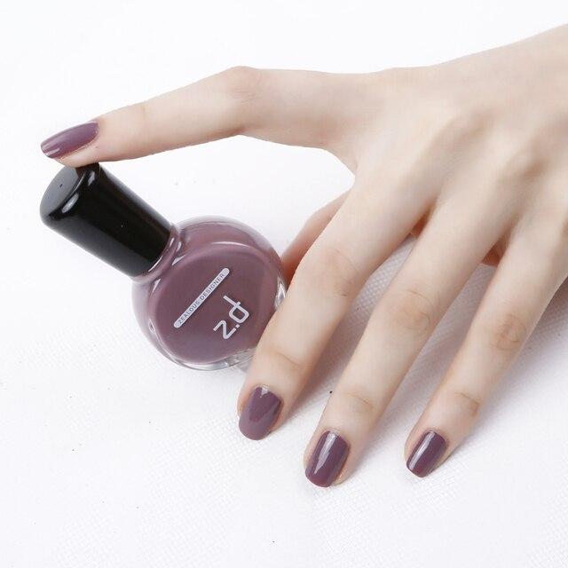 ZD marca ecológico Esmaltes de uñas piel protegida color café fácil ...