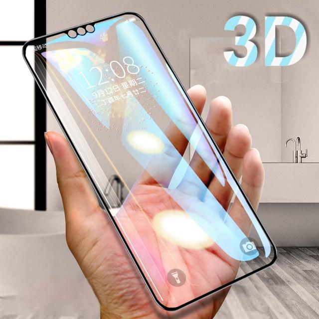 3D กระจกนิรภัยบน Honor 8X สำหรับ Huawei Honor 8A 8C 8S เต็มรูปแบบป้องกันความปลอดภัยบน Honor 8X C S X8 ฟิล์ม 9H