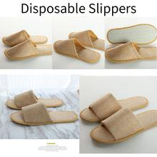 Hotel Slippers Disposable Spa Non-slip Breathable  1/10 Pairs