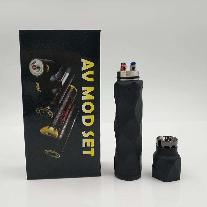 , HOT AV Series Black e-cigarette Mechanical Mod kit brass Material 18650 battery with 510 thread drip atomizer vape pen mod kit