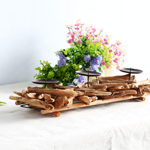 Antique Candle Holder Wood Home Decor Candle Holder Weddings Candlestick Holder Creative Vintage Wood Candle Stand Tealight
