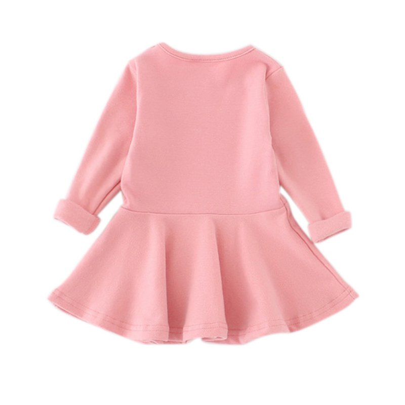 Baby Girls Spring Autumn Dress Toddler Kids Cotton Long Sleeve Party Princess Cute Ruffles Tutu Mini Dresses 0-3Y vestidos autumn girls children s kids baby long sleeve lace mesh tutu patchwork basic dresses princess wedding party dress vestidos s5691