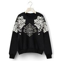 2018 Harajuku Hoodies Print Graphic Floral Sweatshirt Long Sleeve Loose Hoody Warm Women Casual Clothes SS108
