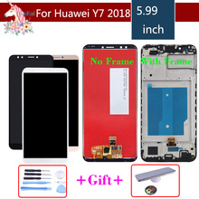 10pcs For Huawei Y7 2018 LCD LDN-L01 LDN-L21 LDN-LX3 LCD Display Touch Screen Assembly With Frame Y7 Prime 2018 LCD Digitizer g121s1 l01 lcd displays
