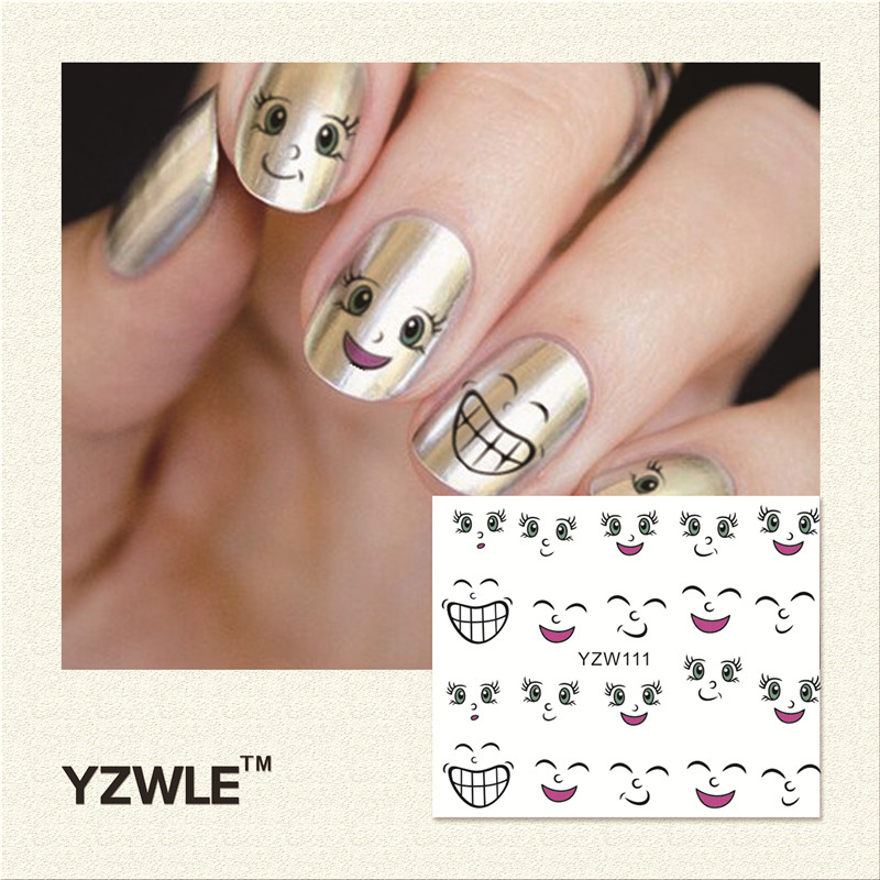 YZWLE 1 Piece Hot Sale Water Transfer Nails Art Sticker Manicure Decor Tool Cover Nail Wrap Decal (YZW111) best price mgehr1212 2 slot cutter external grooving tool holder turning tool no insert hot sale brand new